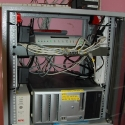improvised installation at the Education site: pimped HP workstation running the Untangle firewall