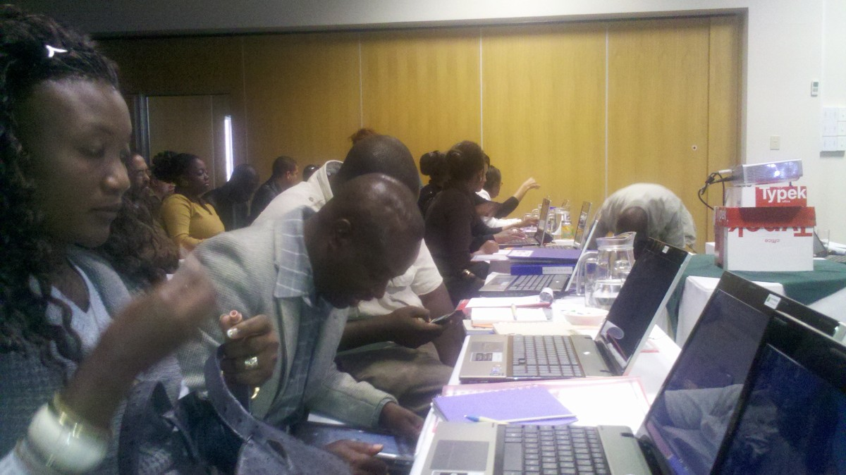 Not an HP showroom. SchoolLink workshop Windhoek.