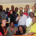 Teachers, INTEL Service Corps members and Head Office staff at Ondjora CS, Oshana Region.