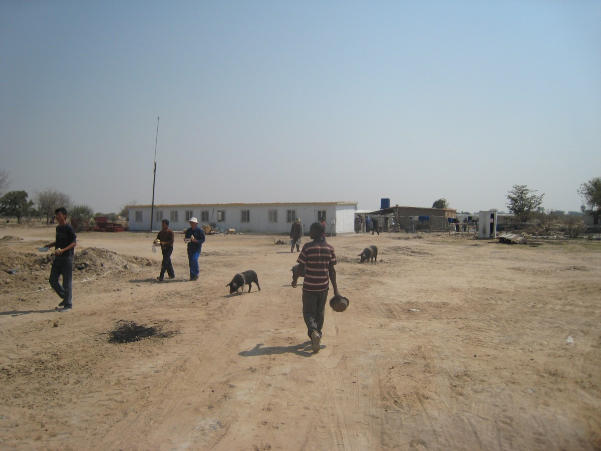 Onawa school construction site, Annamulenge