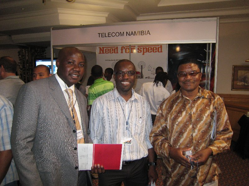 networking: Victor and two guys from NamPower