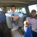 Efficient use of a government car: Victor, me and someone from General Services