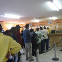 queuing up at the NaTIS office in Oshakati