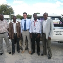 Ovamboland IT summit in Ondangwa: Victor, Garius, Ben, Andrew and Johannes
