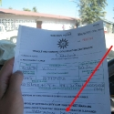 car clearance for the Hilux - luckily the didn\'t check the name again at the NaTIS, Oshakati police station