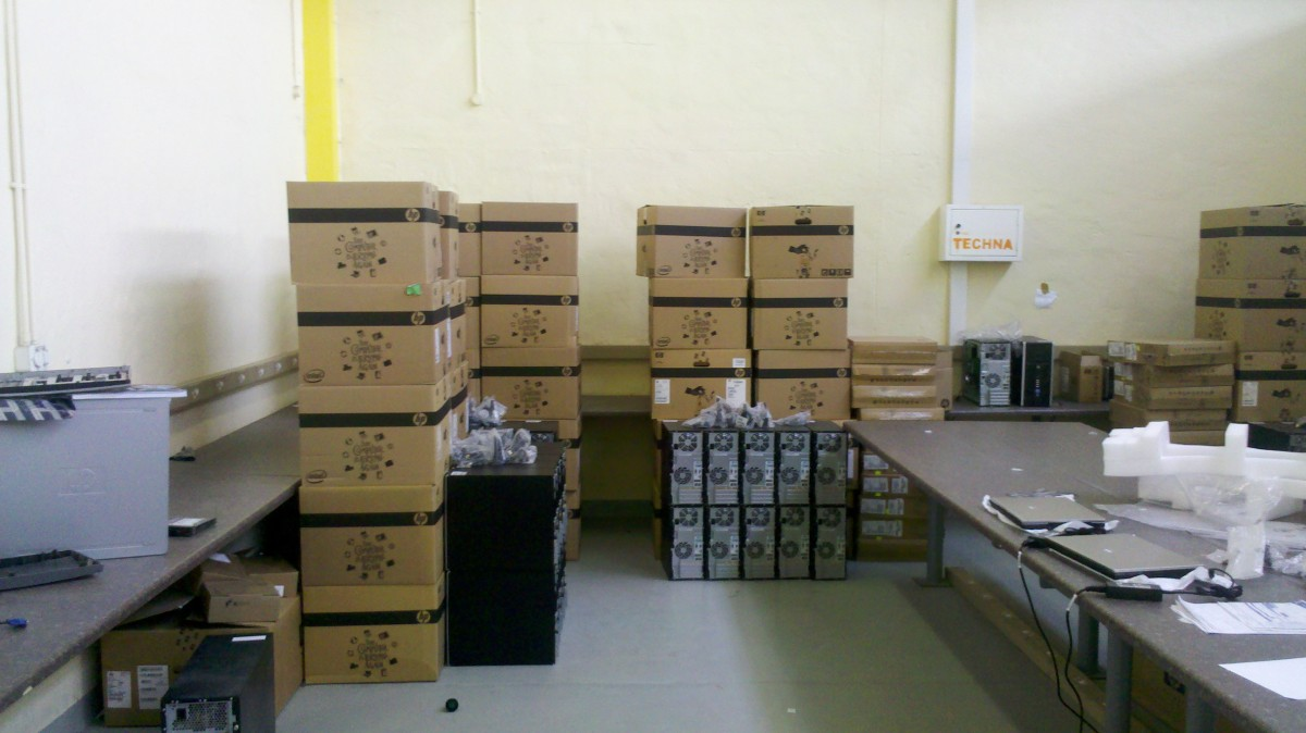 More computer being shipped to the North soon. NETTS centre Windhoek.