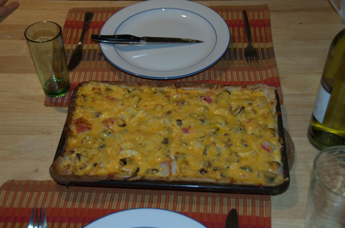 Home made seafood pizza in Outapi. You need to know the secret place in Oshakati to get the ingredients from Walvis Bay.