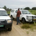 TATA looks tough. But it is not. They finally managed to pull our damaged vehicle out after two days, close to Etayi CS