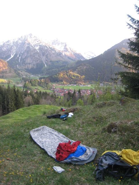bivouac above Bad Oberdorf