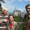Day 6: Neuschwanstein as seen from the Marienbrücke, Kevin Ben and Dan