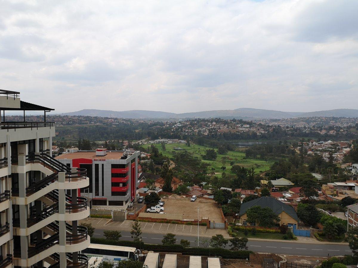 view from kLab at Telecom House, Kigali, Rwanda
